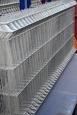 Заборная секция 820ммх2500мм Оцинкованная проволока 4/4мм, фото 2
