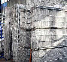 Заборная секция 820ммх2500мм Оцинкованная проволока 4/4мм, фото 3