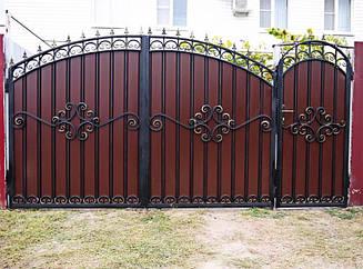 Ворота въездные с калиткой(2х4)
