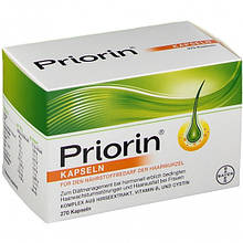 Препарат от выпадения волос Приорин PRIORIN Bayer 270 капсул Германия