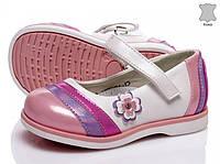 Туфли детские кожаные для девочки. Туфельки из натуральной кожи на девочку, 22 размер (белые)