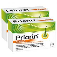 Препарат от выпадения волос Приорин PRIORIN Bayer 120 капсул Германия