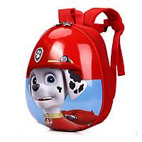 Детский рюкзак для мальчиков и девочек дошкольников Щенячий патруль Маршал Красный