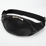 Кожаная сумка на пояс Moon, цвет Черный, фото 4