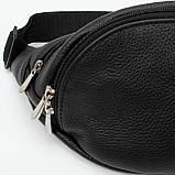 Кожаная сумка на пояс Moon, цвет Черный, фото 5