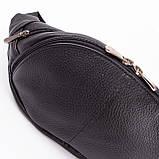 Кожаная сумка на пояс Moon, цвет Черный, фото 7