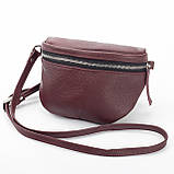 Кожаная женская сумка Modern (с подкладкой), цвет Бордо, фото 3
