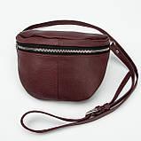 Кожаная женская сумка Modern (с подкладкой), цвет Бордо, фото 4