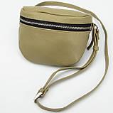 Кожаная женская сумка Modern (с подкладкой), цвет Олива, фото 3