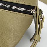 Кожаная женская сумка Modern (с подкладкой), цвет Олива, фото 4