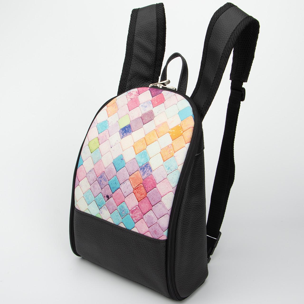 Кожаный рюкзак Print Мозаика