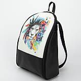 Кожаный рюкзак Print Лев, фото 3