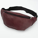 Кожаная сумка на пояс City, цвет Бордо, фото 3