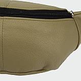 Кожаная сумка на пояс City, цвет Олива, фото 4