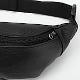 Кожаная сумка на пояс City, цвет Черный, фото 4