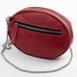 Кожаная женская сумка Jane, цвет Красный, фото 3