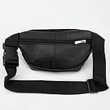 Кожаная сумка на пояс Prima (с карманом), цвет Черный, фото 4