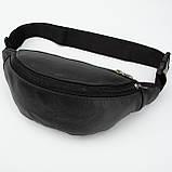 Кожаная сумка на пояс Vita, цвет Чорный, фото 3