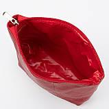 Кожаная косметичка с подкладкой, цвет Красный, фото 4