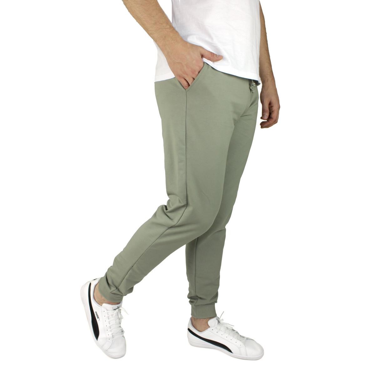 Штани чоловічі спортивні сіро-зелені M-3XL