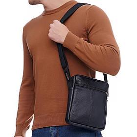 Кожаная сумка через плечо Den, цвет Черный