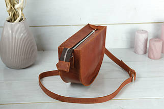 Сумка женская. Кожаная сумочка Фуксия, Винтажная кожа, цвет Коньяк, фото 2