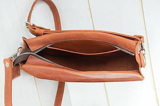 Сумка женская. Кожаная сумочка Фуксия, Винтажная кожа, цвет Коньяк, фото 3