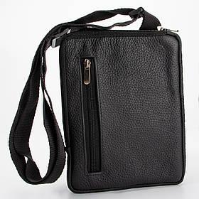 Кожаная сумка через плечо, цвет Черный