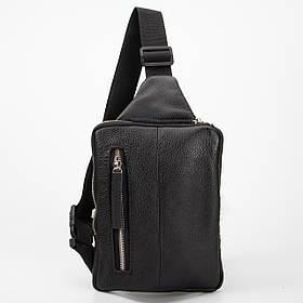 Кожаная сумка нагрудная Gold, цвет Черный