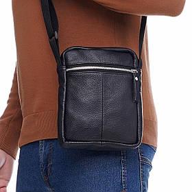 Кожаная сумка через плечо Den mini Gold, цвет Черный
