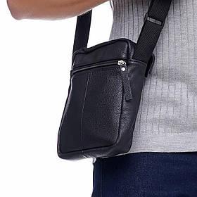 Кожаная сумка через плечо Den mini, цвет Черный