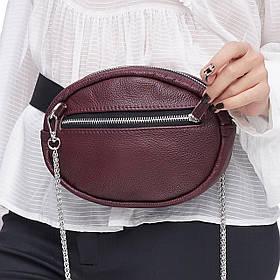 Кожаная женская сумка Jane, цвет Бордо