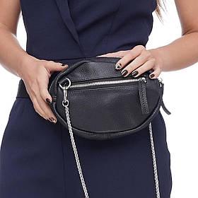 Кожаная женская сумка Jane, цвет Черный