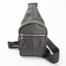 Кожаная нагрудная сумка Sling mini Gold, цвет Черный