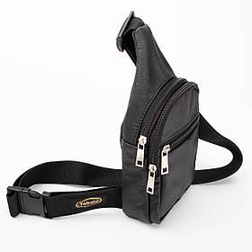 Кожаная нагрудная сумка Sling mini , цвет Черный