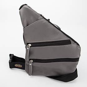 Кожаная нагрудная сумка Spider, цвет Серый