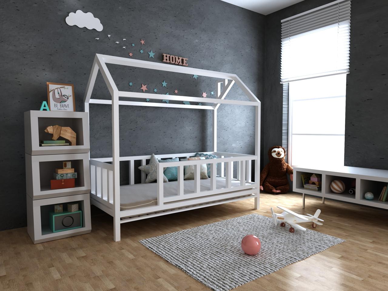 ✅Дитяче Дерев'яне ліжко будиночок Тедді ТМ MegaOpt