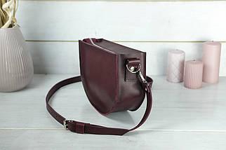 Сумка женская. Кожаная сумочка Фуксия Кожа Итальянский краст цвет Бордо, фото 3