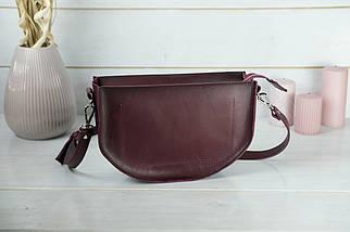 Сумка женская. Кожаная сумочка Фуксия Кожа Итальянский краст цвет Бордо, фото 2