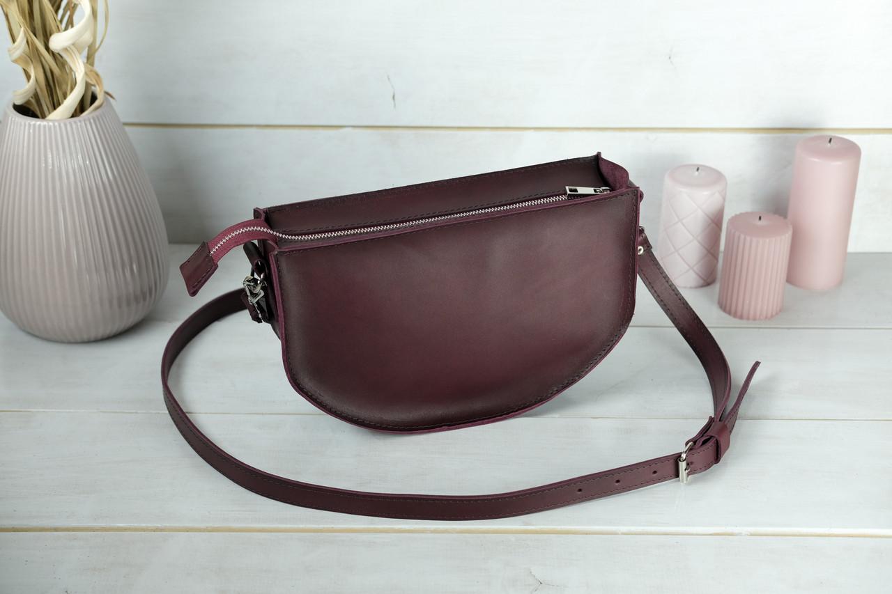 Сумка женская. Кожаная сумочка Фуксия Кожа Итальянский краст цвет Бордо