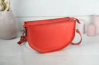 Сумка женская. Кожаная сумочка Фуксия Кожа Итальянский краст цвет Красный, фото 2