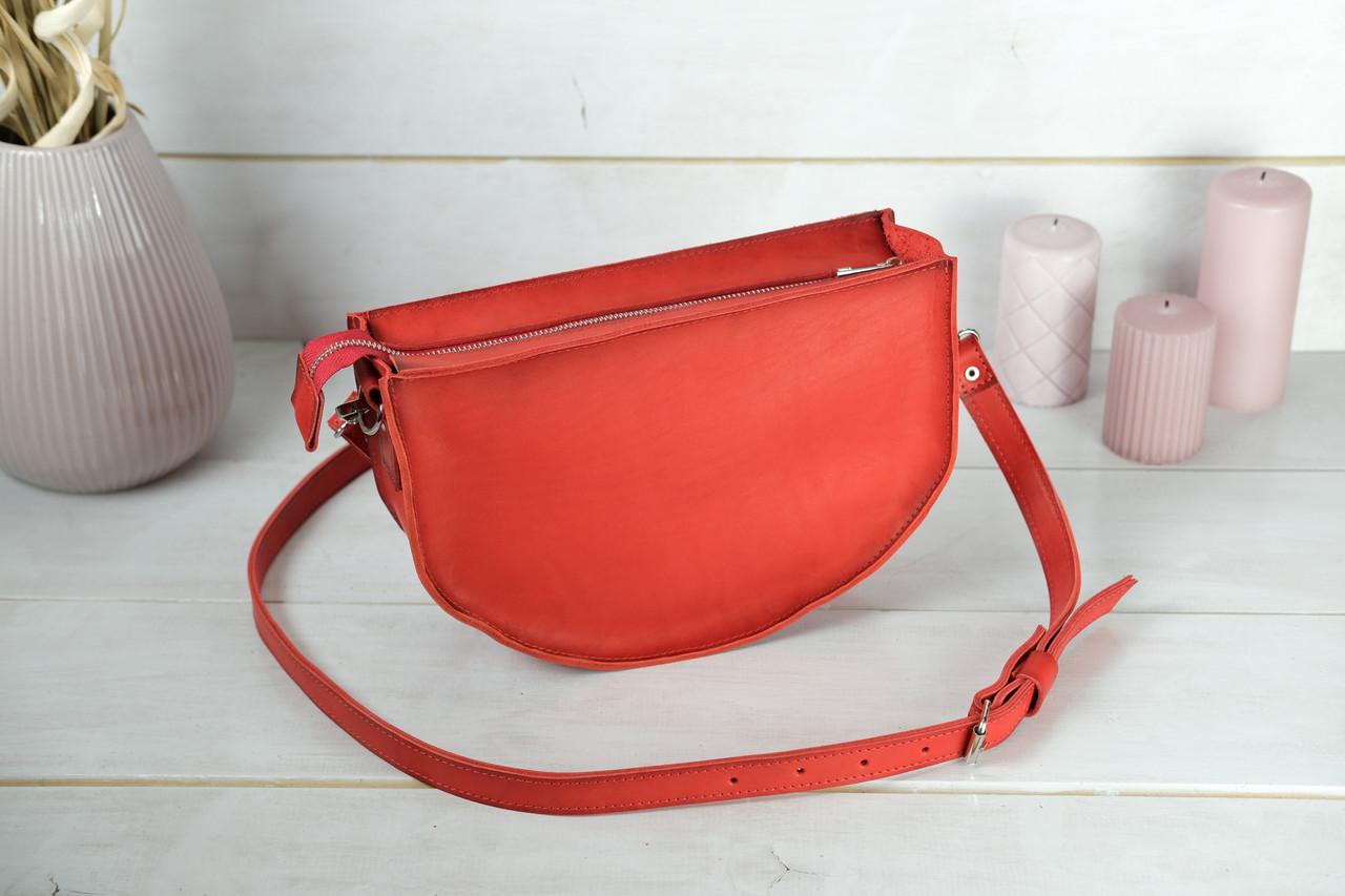 Сумка женская. Кожаная сумочка Фуксия Кожа Итальянский краст цвет Красный