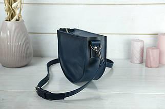 Сумка женская. Кожаная сумочка Фуксия Кожа Итальянский краст цвет Синий, фото 3