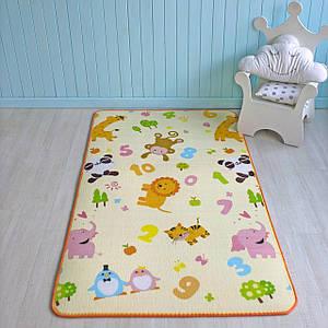 """Розвиваючий килимок дитячий термо """"Тварини + Акваріум"""" 180х120х1см"""