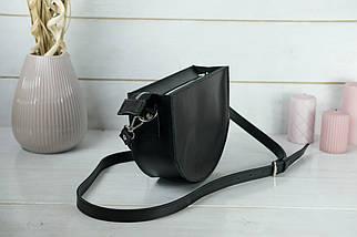 Сумка женская. Кожаная сумочка Фуксия Кожа Итальянский краст цвет Черный, фото 2