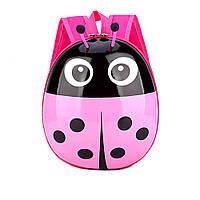 Детский рюкзак для девочек дошкольников Божья коровка Розовый