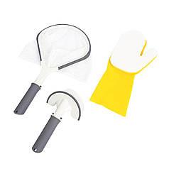 Набор для чистки Bestway 58421 (сачок, щетка, перчатка)