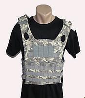 Тактический облегченный военный жилет-плитоноска.(Пиксель)