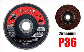 Диск лепестковый шлифовальный 125 мм P36 Ninja Zirconium 65V303
