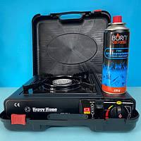 Газовая плитка портативная Stenson с адаптером + газовый баллон